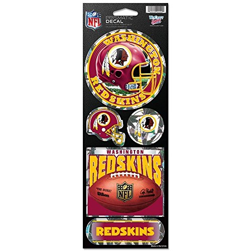 - WinCraft NFL Washington Redskins Prismatic Stickers, Team Color, One Size