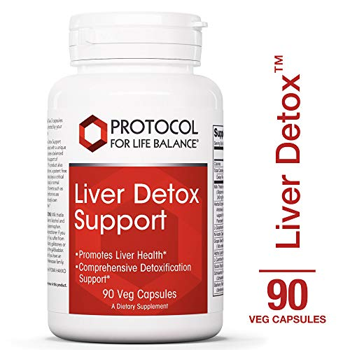 Protocol For Life Balance - Liver Detox™ - with Milk Thistle Extract, Comprehensive Antioxidant Formula to Support the Liver, Stress Management, Relaxation, Helps with Weight Loss - 90 Capsules