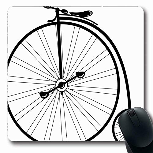 - Ahawoso Mousepad for Computer Notebook Fun Tricycle Vintage Bike High Wheel Mode Style Bicycle Old Cyclist Antique Classic Design Oblong Shape 7.9 x 9.5 Inches Non-Slip Gaming Mouse Pad