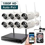 [1080P HD Auto-Pair Wireless] ONWOTE 8 C...