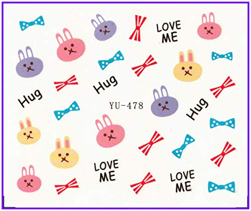 Water Transfers Stickers Nail Decals Stickers Flower Winter Lover Cookies Cap Bow Tie Yu471-482 Stickers & Decals