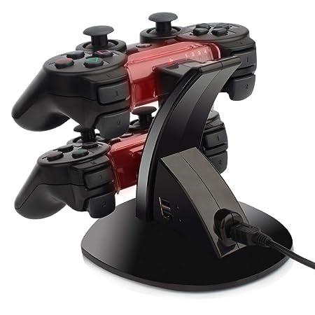 Amazon.com: YCCTEAM - Cargador para mando de PS3 (doble USB ...