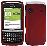 Red Rubberized Hard Case Cover for Samsung Replenish M580