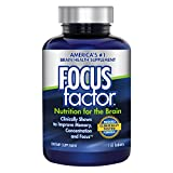 Focus Factor Nutrition for the Brain - Memory, Concentration & Focus - DMAE, B6, B12, Bacopa & More - Clinically Proven Brain Health Supplement (150 Count)