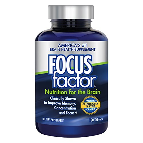 Focus Factor Nutrition for The Brain – Improves Memory & Concentration – DMAE, B6, B12, Bacopa – America's #1 Clinically Proven Brain Booster Supplement (150 Count)