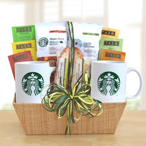 Starbucks Tea and Coffee Gourmet Gift Basket By California Delicious