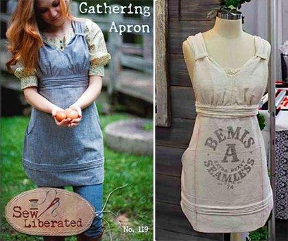 Sew Liberated Sewing Pattern Gathering Apron: Amazon.co.uk: Kitchen ...