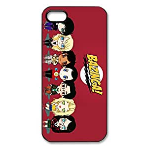 Custom The Big Bang Theory Hard Back Cover Case for iPhone 5,5S TPU (Laser Technology)