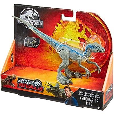 Jurassic World Savage Strike Velociraptor Blue: Toys & Games