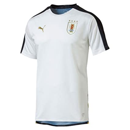 eb2c1f76678 Amazon.com   PUMA 2018-2019 Uruguay Stadium Jersey (White)   Sports    Outdoors