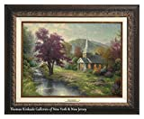Thomas Kinkade Streams of Living Water 12'' x 16'' Canvas Classic (Aged Bronze)