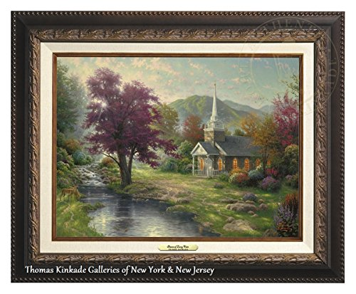 Thomas Kinkade Streams of Living Water 12'' x 16'' Canvas Classic (Aged Bronze) by Thomas Kinkade