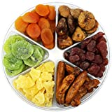 Dried Fruit Deluxe Gift Tray, 6 Section Collection of Fresh Fruits By FirstChoiceCandy