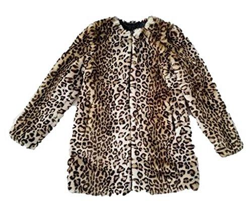 (Diane Von Furstenberg Francie Faux Fur Coat, Leopard, XS)