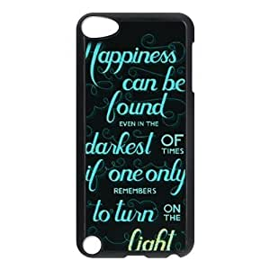 CTSLR Harry Potter Quotes Hard Case Cover Skin for iPod Touch 5 5G 5th Generation- 1 Pack - Black/White - 2