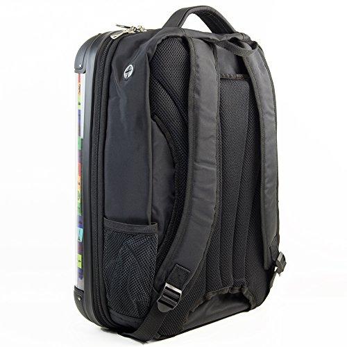 HAUPTSTADTKOFFER - STYLE Laptoprucksack Rucksack Business Laptop Rucksack Arbeits Daypack, individuell gestalten, Geschenkidee, Design: World Polaroid Braun England
