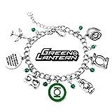 reynolds hot bags - Green Lantern Charm Bracelet DC Comics Movies Cartoons Superhero Logo Theme Ryan Reynolds Premium Quality Detailed Cosplay Jewelry Gift Series