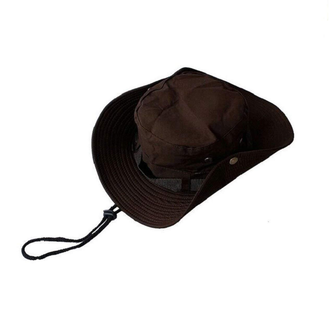 SUNNYDAY Chapeau de p/êcheur en Plein air Grande visi/ère Casquette de p/êche Alpinisme Jungle Hommes et Femmes Protection du Soleil Chapeau Chapeau personnalis/é Logo Bonnet