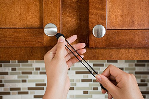 Child Safety Cabinet Locks 5 Pack Easiest No Tools No Drilling No Adhesives Latches for Baby Proofing Knobs