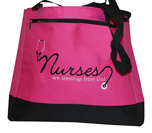 Christian Themed Tote Bag - Nurses are Blessings from God