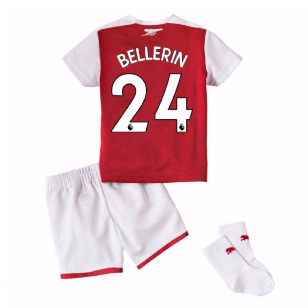 2017-18 Arsenal Home Baby Kit (Bellerin 24) B077PKC44ZRed 9-12 Months