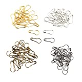 Copper Knitting Locking Markers Crochet Stitch Needle Clips Safety Pins 100 Pcs