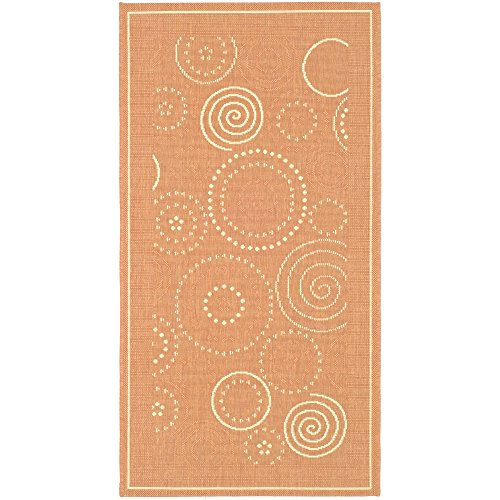 Safavieh Courtyard Collection CY1906-3202 Terracotta and Natural Indoor/ Outdoor Area Rug (2' x 3'7