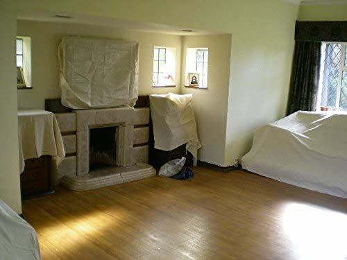 Lot de 2 draps en sergé de coton résistant 2,7 m x 3,6 m. Poids de chaque feuille : 1,9 kg environ.