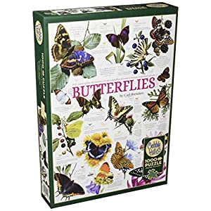 Cobblehill 80015 1000 Pc Butterfly Collection Puzzle Vari