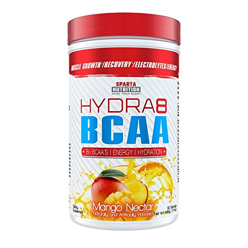 Sparta Nutrition HYDRA8 BCAA: Best Tasting BCAA Powder and Amino Energy Supplement, Intra-Workout/Post-Workout Drink, Increased Muscle Recovery/Endurance, Muscle Builder, Mango Nectar, 30 Servings by Sparta Nutrition