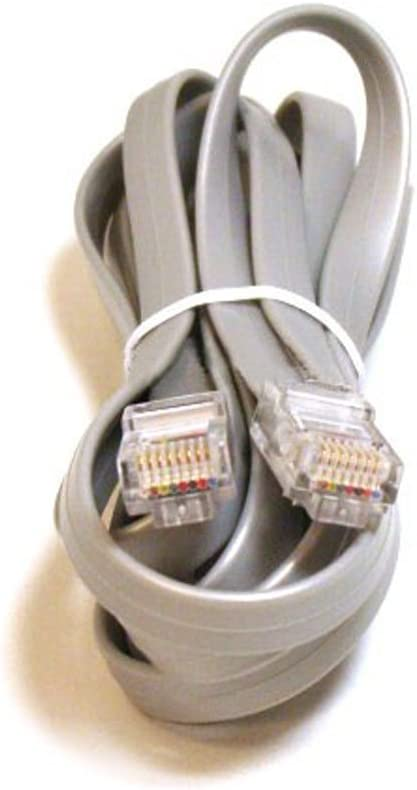 7-Feet for Data Monoprice 100928RJ11 6P4C Straight Landline Telephone Cable