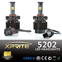 Xprite All-in-One 5202 LED Headlight Conversion Kit - 80W 7200LM Cree LED - Replaces Halogen and HID Bulbs (Original Temperature Cover Kit)