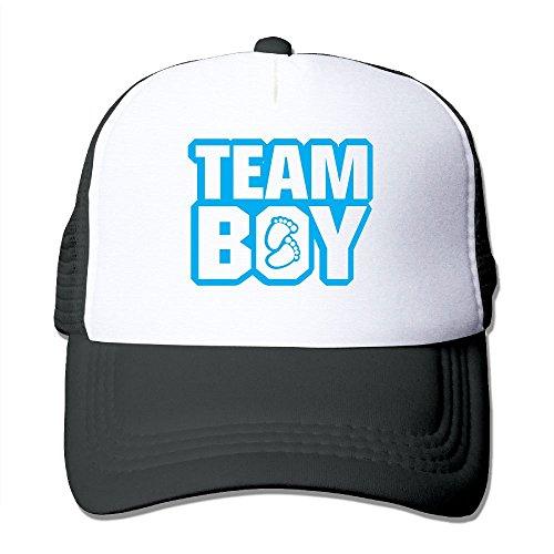 ZhiqianDF Momen Team Boy Fashion Basketball Black Mesh Hat Adjustable - Team Shirt Flex