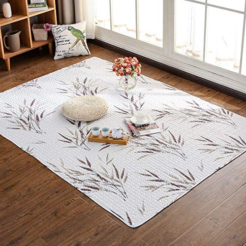 WJH Super Soft Rug, Cotton Crawling Tatami mat Carpet, Oriental Modern Design Rugs,Comfortable Washable Non-Slip Home Carpet-L 110x210cm(43x83inch)