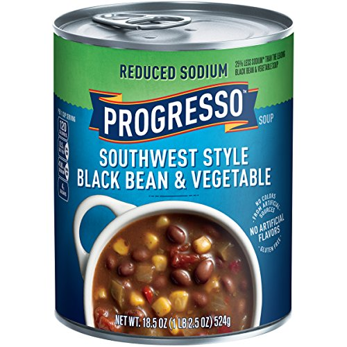 Progresso Heart Healthy Soup, Southwest-Style Black Bean and Vegetable, 18.5-Ounce Cans (Pack of (Chicken Black Beans Corn)