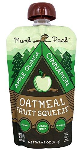 Munk Pack - Gluten Free Oatmeal Fruit Squeeze Apple Quinoa Cinnamon - 4.2 oz (pack of (Apple Oatmeal Cookies)