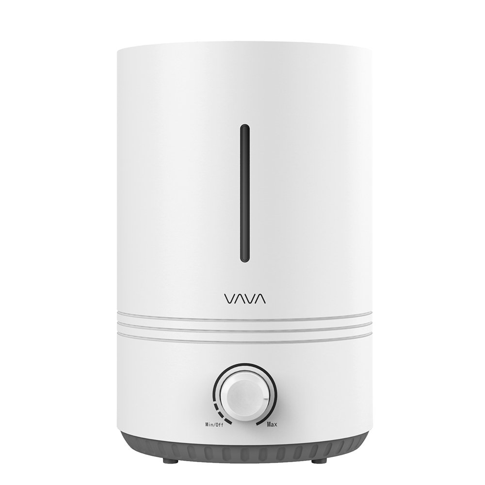 VAVA VA-AH017 Top Fill, 4.3L Ultrasonic Cool Mist Humidifier for Bedroom Nursery [BPA Free], Easy to Clean, 17-36 Hours, Whisper-Quiet, Auto Shut Off, Blue Mood Light, (100V-240V), White