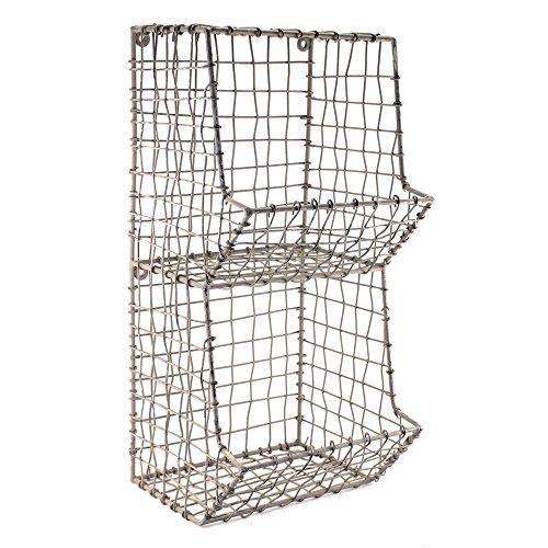 Mini Rustic Wire General Store Wall Bin
