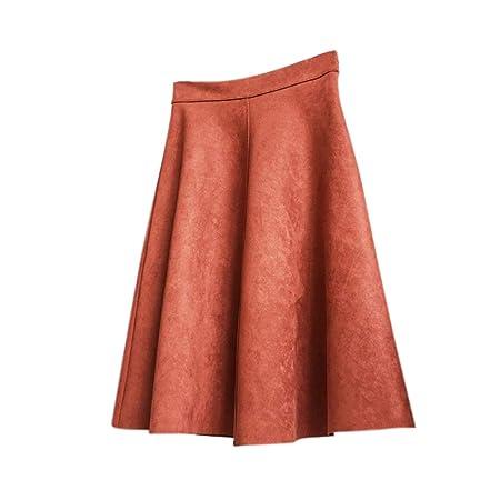 Wellouis Faldas de otoño Vintage para Mujer, Falda Larga de ...