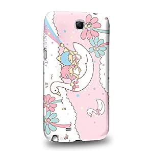 Case88 Premium Designs Little Twin Star Kiki And Lala Dreamy Diary 1341 Carcasa/Funda dura para el Samsung Galaxy Note 2
