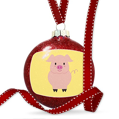 Christmas Decoration Cute Animals for Kids Pig Ornament by NEONBLOND