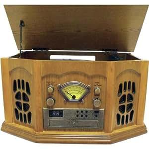 Inovalley Retro10E Minicadena retro tocadiscos CD radio USB