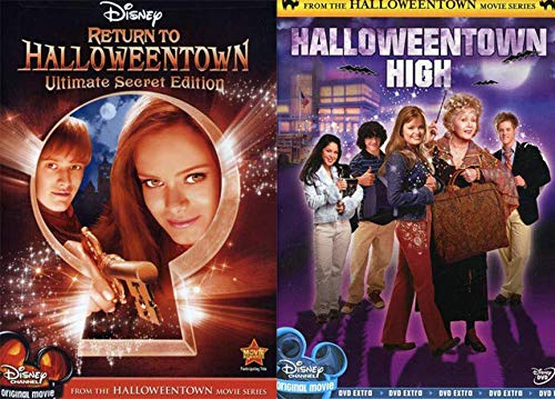 Ultimate Secret Witches Halloweentown High Disney Halloween Magic Double Feature + Return to Halloweentown Creepy School Teen family fun ()