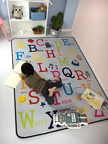 Rug Abc Feelings (Plush Foam Play Crawling Rugs for Baby , and Children Play Blanket, Soft Activity Area Rugs, Boys and Girls Educational Game Mat, 59
