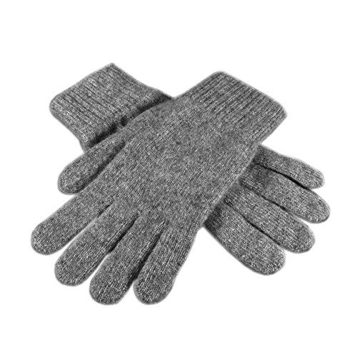 Child Grey Gloves (Children Warm Magic Gloves Toddler Winter Gloves Baby Girls Knit Gloves(2 to 6 years old) (Gray))