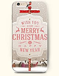 SevenArc New Apple iPhone 6 ( 4.7 Inches) Hard Case Cover - Wish You a Very Merry Christmas and Happy New Year