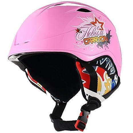 eDealMax Carryon autorizado niños Snowboard Casco de esquí de invierno Bicicleta de Skate Deportes Proteger Liner