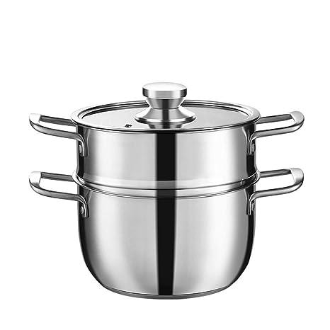 Olla JXLBB 304 Sopa de Acero Inoxidable espesadora Cocina Binaural Sartén Agua hirviendo Acero Inoxidable Cocina