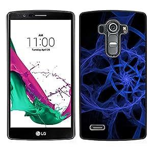 LECELL--Funda protectora / Cubierta / Piel For LG G4 -- Resumen espiral azul --