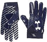 Under Armour Men's Spotlight Football Gloves,Midnight Navy (411)/White, Small/Medium
